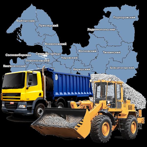 Щебень вторичный с доставкой в Санкт-Петербурге и области
