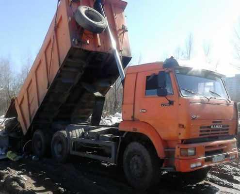 Вывоз строительного мусора камазами в СПБ недорого СК ООО «Эверест»